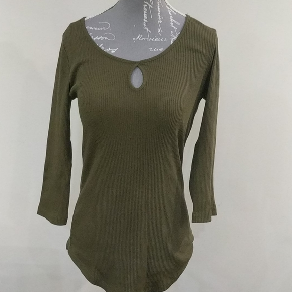 streetwear society olive green ribbed long sleeve